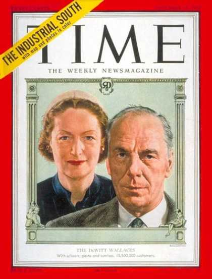 Time - The Dewitt Wallace's - Dec. 10, 1951 - Publishing
