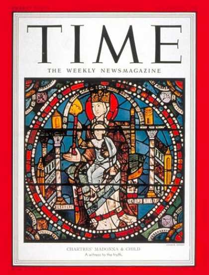 Time - Madonna and Child - Dec. 24, 1951 - Mary - Jesus - Religion - Art