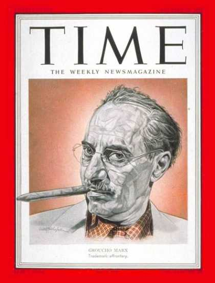 Time - Groucho Marx - Dec. 31, 1951 - Actors - Comedy - Most Popular - Movies