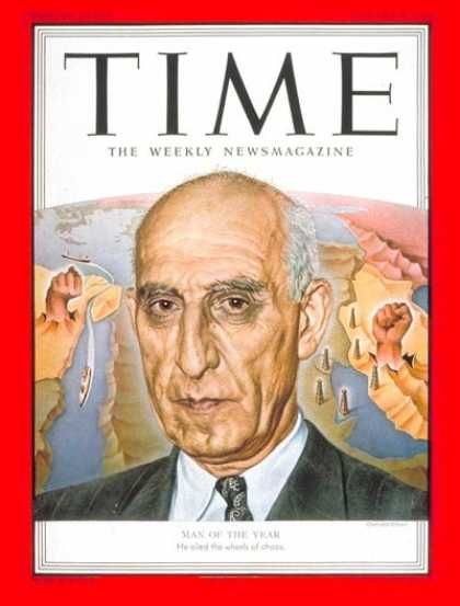 Time - Mohammed Mossadeg, Man of the Year - Jan. 7, 1952 - Mohammed Mossadeq - Person o