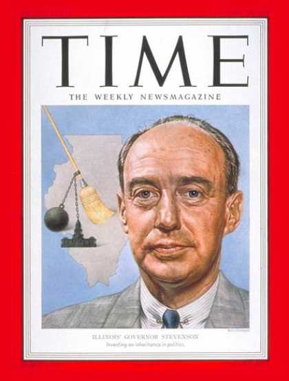Time - Adlai Stevenson - Jan. 28, 1952 - Governors - Illinois - Presidential Elections