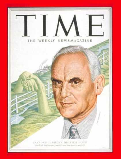 Time - Clarence Decatur Howe - Feb. 4, 1952 - Canada - Prime Ministers