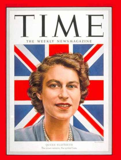 Time - Queen Elizabeth II - Feb. 18, 1952 - Great Britain - Royalty