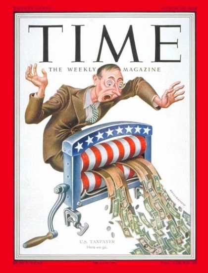 Time - U.S. Taxpayer - Mar. 10, 1952 - Finance - Taxes - Politics