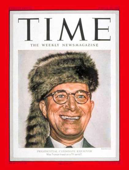 Time - Estes Kefauver - Mar. 24, 1952 - Congress - Senators - Tennessee - Politics