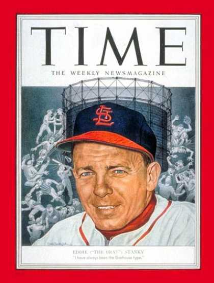 Time - Eddie Stanky - Apr. 28, 1952 - Baseball - St. Louis - Sports
