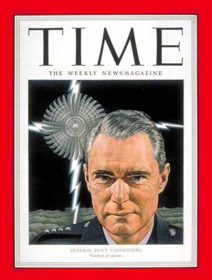 Time - General Hoyt Vandenberg - May 12, 1952 - Korean War - Air Force - Generals - Mil