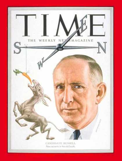 Time - Richard Russell - May 19, 1952 - Congress - Senators - Georgia - Politics