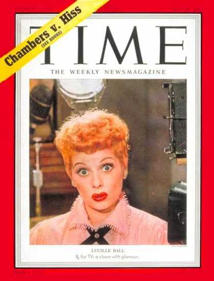 Time - Lucille Ball - May 26, 1952 - Television - Comedy - Actresses - Most Popular