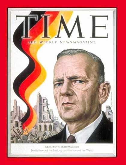 Time - Kurt Schumacher - June 9, 1952 - Germany