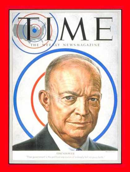 Time - Dwight D. Eisenhower - June 16, 1952 - Dwight Eisenhower - U.S. Presidents - Pre