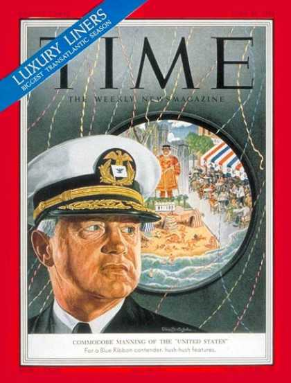 Time - Commodore Manning - June 23, 1952 - Ships - Transportation