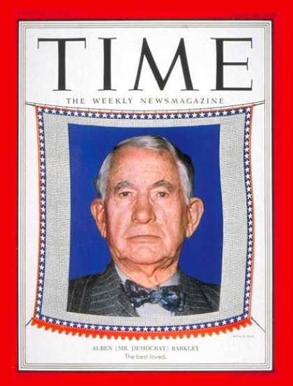 Time - Alben Barkley - July 28, 1952 - Vice Presidents - Politics - Democrats