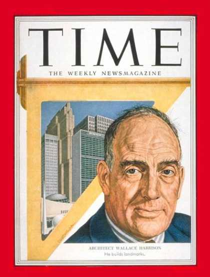 Time - Wallace K. Harrison - Sep. 22, 1952 - Design - Architecture