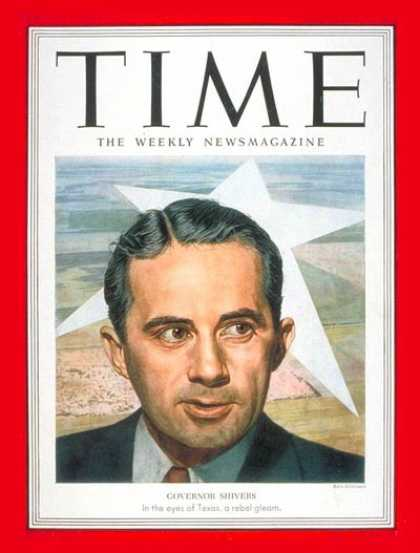 Time - Allan Shivers - Sep. 29, 1952 - Governors - Texas - Politics