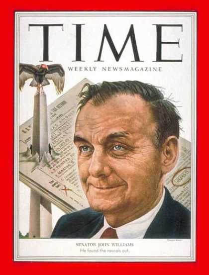 Time - Senator John Williams - Oct. 13, 1952 - Congress - Senators - Politics