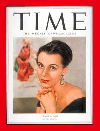 Time - Claire Bloom - Nov. 17, 1952 - Actresses - Movies - Broadway - Theater