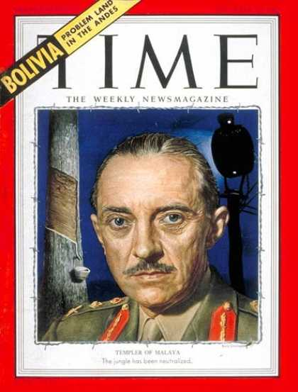 Time - Sir Gerald Templer - Dec. 15, 1952 - Great Britain - Military