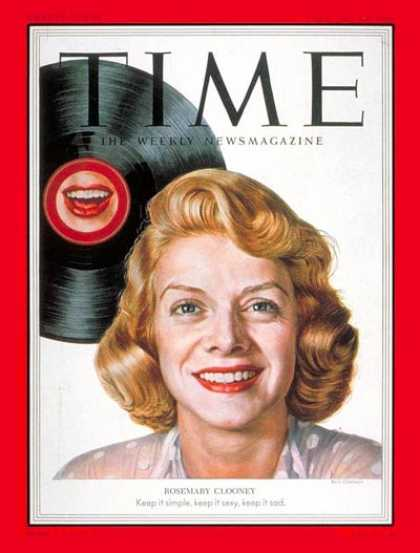 Time - Rosemary Clooney - Feb. 23, 1953 - Singers - Music