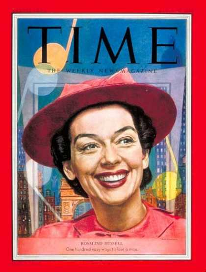 Time - Rosalind Russell - Mar. 30, 1953 - Actresses - Movies