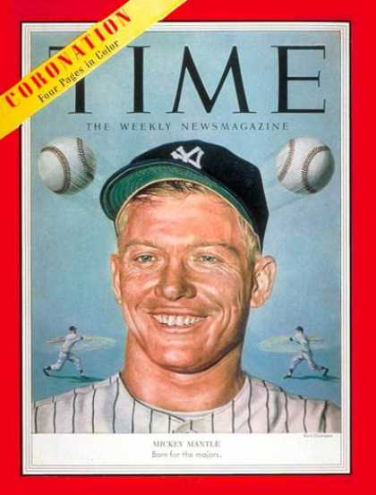 Time - Mickey Mantle - June 15, 1953 - Baseball - New York - Most Popular - Sports