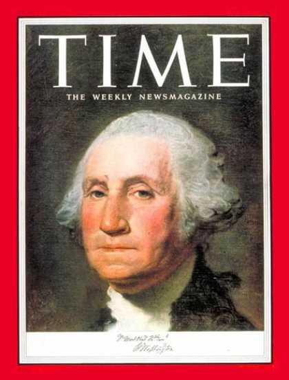 Time - George Washington - July 6, 1953 - Founding Fathers - Most Popular - U.S. Presid