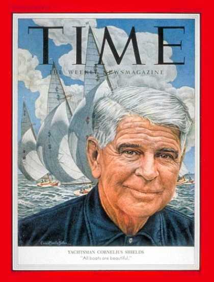 Time - Cornelius Shields - July 27, 1953 - Yachting - Boats - Sports
