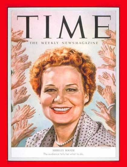 Time - Shirley Booth - Aug. 10, 1953 - Television - Theater - Actresses - Broadway