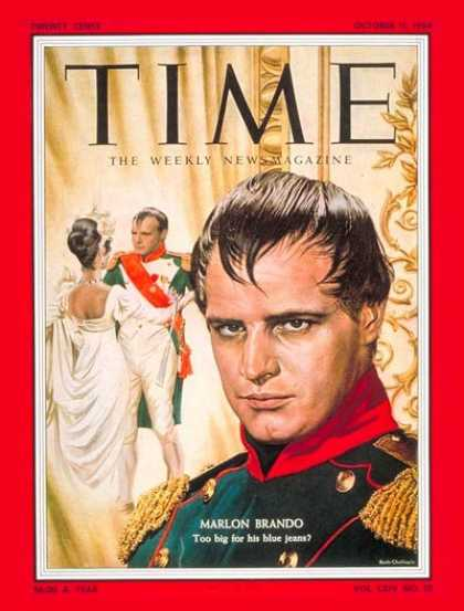 Time - Marlon Brando - Oct. 11, 1954 - Actors - Most Popular - Movies