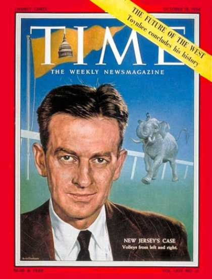 Time - Clifford Case, Jr. - Oct. 18, 1954 - New Jersey - Politics