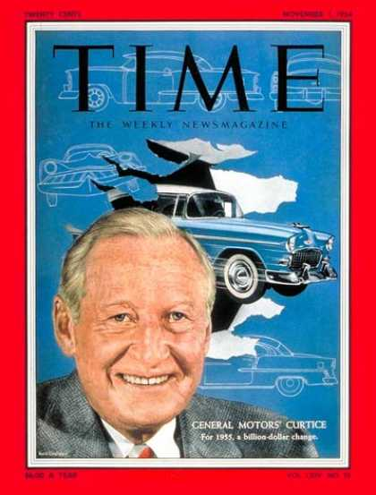Time - Harlow H. Curtice - Nov. 1, 1954 - Harlow Curtice - General Motors - Cars - Auto