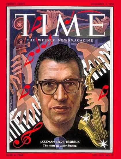 Time - David Brubeck - Nov. 8, 1954 - Pianists - Jazz - Composers - Music
