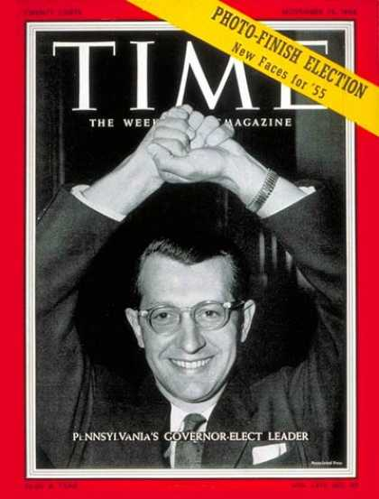 Time - George M. Leader - Nov. 15, 1954 - Governors - Pennsylvania - Politics
