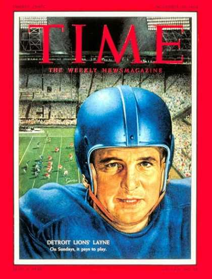 Time - Bobby Layne - Nov. 29, 1954 - Football - Detroit - Sports