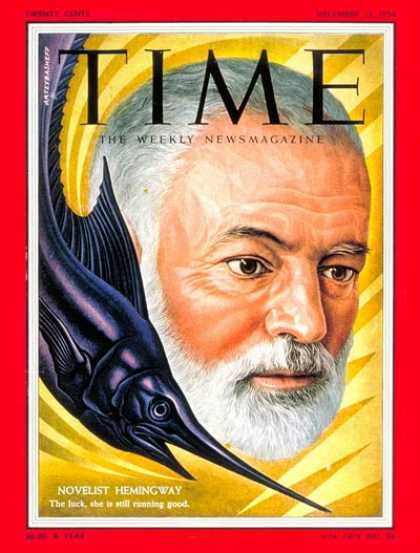 Time - Ernest Hemingway - Dec. 13, 1954 - Books