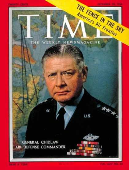 Time - General Benjamin Chidlaw - Dec. 20, 1954 - Air Force - Generals - Military