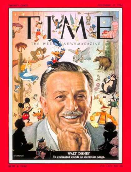 Time - Walt Disney - Dec. 27, 1954 - Business - Most Popular - Movies