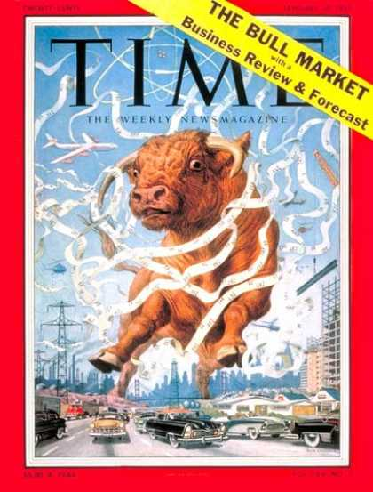 Time - Great Bull Market - Jan. 10, 1955 - Finance - Wall Street - Economy - Business