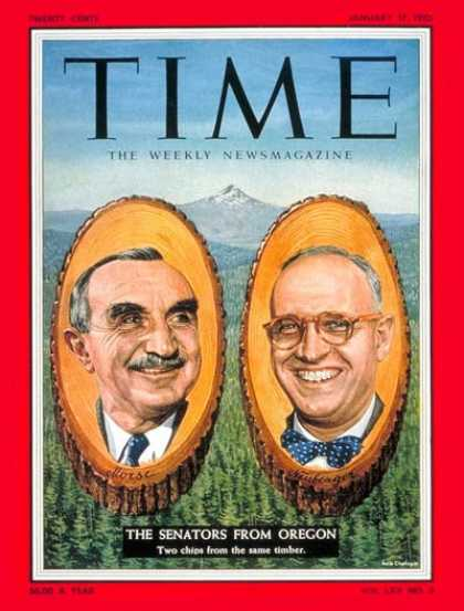 Time - Sen. Wayne Morse and Senator Neuberger - Jan. 17, 1955 - Congress - Senators - O