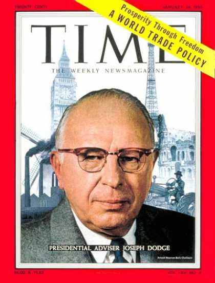Time - Joseph M. Dodge - Jan. 24, 1955 - Economy - Politics