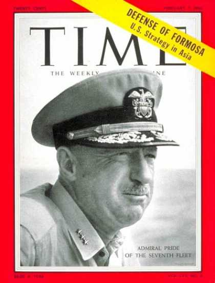 Time - Alfred M. Pride - Feb. 7, 1955 - Navy - Military