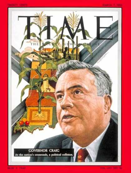 Time - Gov. George Craig - Mar. 7, 1955 - Governors - Politics