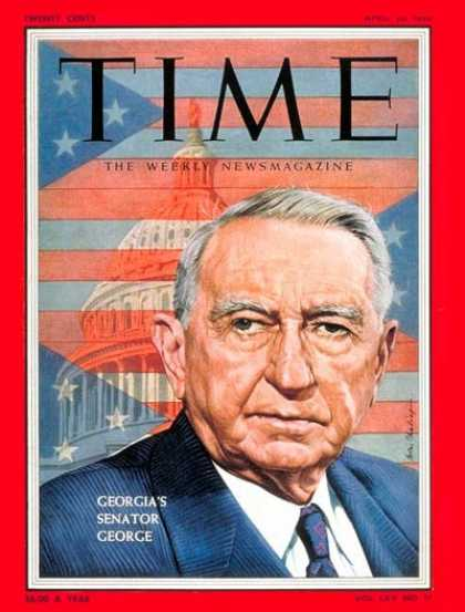 Time - Sen. Walter George - Apr. 25, 1955 - Walter George - Congress - Senators - Polit