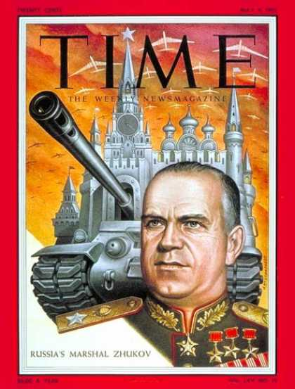 Time - Marshall Georgy Zhukov - May 9, 1955 - Russia - Military