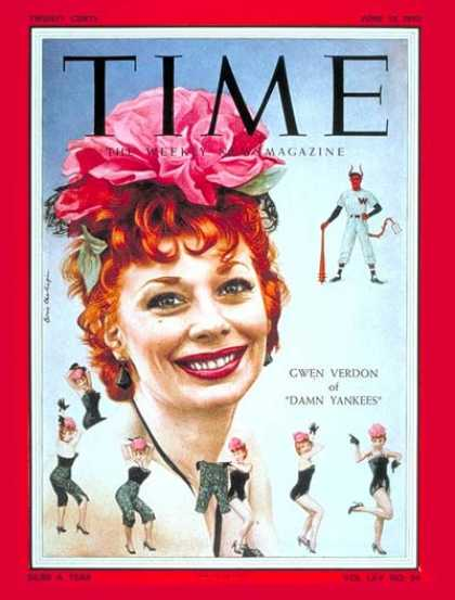 Time - Gwen Verdon - June 13, 1955 - Theater - Actresses