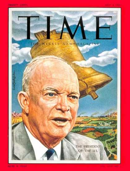 Time - Dwight D. Eisenhower - July 4, 1955 - Dwight Eisenhower - U.S. Presidents - Poli
