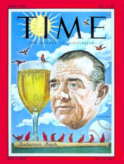 Time - August Anheuser Busch Jr. - July 11, 1955 - Beer - Business