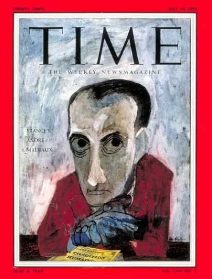 Time - Andrei Malraux - July 18, 1955 - France
