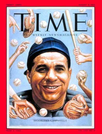 Time - Roy Campanella - Aug. 8, 1955 - Baseball - New York - Sports