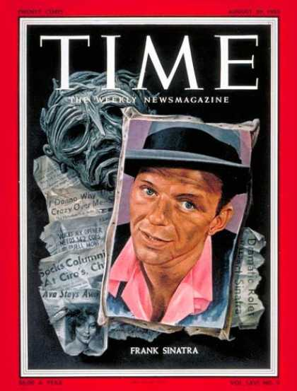 Time - Frank Sinatra - Aug. 29, 1955 - Singers - Actors - Most Popular - Music